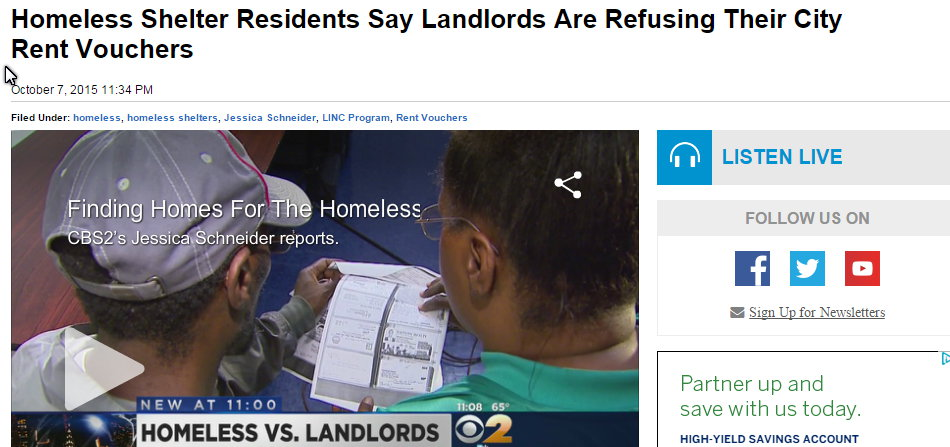 Homeless Shelter Residents Say Landlords Are Refusing Their City